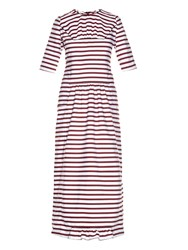 Marni Breton Striped Ruffled Midi Dress