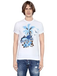 Dsquared Sexy Slim Fit Palm Cotton Jersey T Shirt