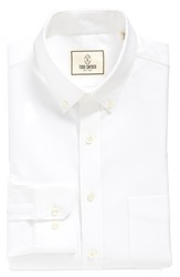 Todd Snyder Trim Fit Solid Dress Shirt White