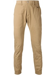 Stampd Elasticated Cuffs Trousers Brown