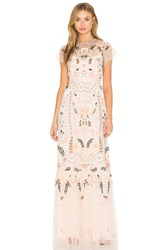 Needle And Thread Floral Embellished Tiered Maxi Dress Peach