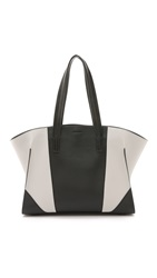 Narciso Rodriguez Leather Claire Tote Stone Black