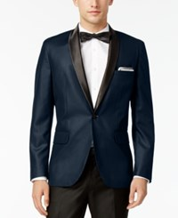 Inc International Concepts Men's Customizable Tuxedo Blazer Only At Macy's Navy Slim Shawl Lapel Blazer