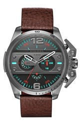 Men's Diesel 'Ironside' Chronograph Leather Strap Watch 55Mm