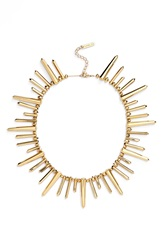 Rachel Zoe 'Stella' Spike Collar Necklace Gold