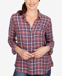 Lucky Brand Plaid Shirt Pink Multi