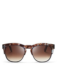 Wildfox Couture Club Fox Clubmaster Wayfarer Sunglasses 54Mm Coconut