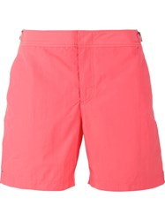 Orlebar Brown 'Bulldog' Swim Shorts Pink And Purple
