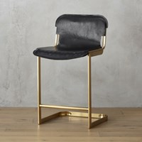 Cb2 Rake Brass 24 Counter Stool
