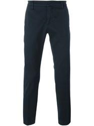 Dondup Straight Chino Trousers Blue