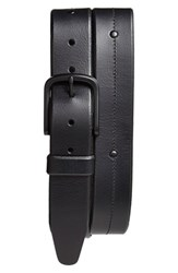 Men's Allen Edmonds 'Pierce Avenue' Leather Belt Black