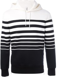 Neil Barrett Striped Hoodie Black