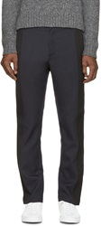 Cnc Costume National Navy And Black Trousers