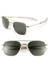 Men's Randolph Engineering 55Mm Aviator Sunglasses Gold Agx