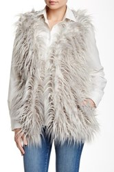 Jakett Faux Fur Vest Gray