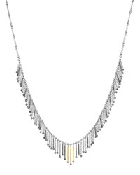 Spring Sterling Silver And Gold Necklace With Diamonds Small Coomi Red