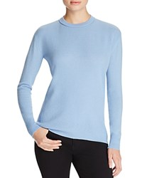 Magaschoni High Low Cashmere Sweater Duomo Blue