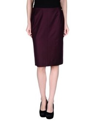Rena Lange Knee Length Skirts Maroon