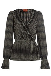 Missoni Crochet Knit Blouse Black