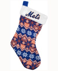 Forever Collectibles New York Mets Ugly Sweater Knit Team Stocking Blue