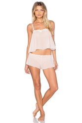 Hanky Panky Chiffon Cropped Cami And Tap Pant Blush
