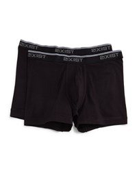 2Xist No Show Boxer Briefs Two Piece Set Black 00