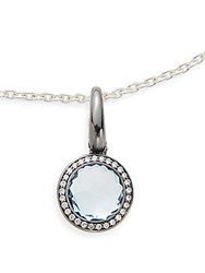 Ippolita Ippolitini Blue Topaz Diamonds And Black Sterling Silver Lollipop Charm Pendant