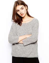Bzr Mohair Jumper In Boxy Fit Grey