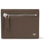 Tom Ford Full Grain Leather Cardholder Mushroom