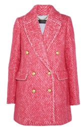J.Crew Coco Double Breasted Tweed Coat Bubblegum