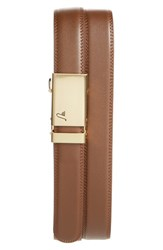 Men's Mission Belt 'Twentyfour' Leather Belt Gold Mocha