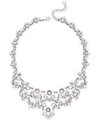 Charter Club Silver Tone Crystal Garland Bib Necklace Only At Macy's