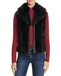 Guess Gabby Faux Fur Vest Jet Black
