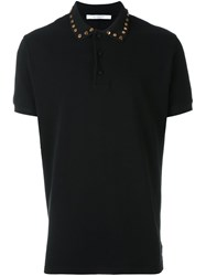 Givenchy Studded Polo Shirt Black