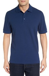 Nordstrom Men's Big And Tall Men's Shop Tipped Oxford Pique Polo Blue Estate