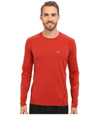 Arc'teryx Motus Crew Long Sleeve Madder Men's Clothing Red