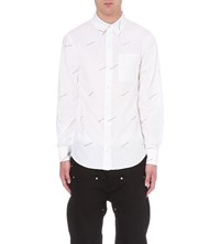 Hood By Air American Psycho Print Cotton Twill Shirt White