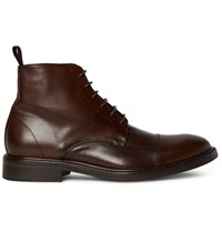 Paul Smith Jarman Cap Toe Leather Boots Chocolate