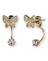 Lonna And Lilly Butterfly Ear Jacket Stud Earrings Set Gold