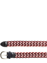 Tombolini 35 Mm Woven Cotton Belt Red White Blue