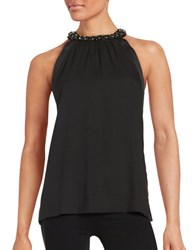Michael Michael Kors Sleeveless Jeweled Top Black