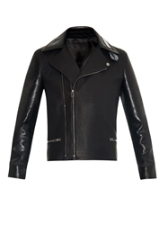 Balenciaga Combination Leather Biker Jacket