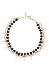 Joomi Lim Crystal And Spike Choker Chain