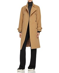 Vince Wool Blend Trench Coat Camel