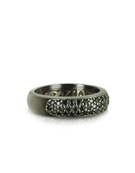 Azhar Black Cubic Zirconia And Sterling Silver Ring