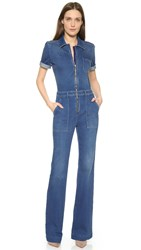 Stella Mccartney Denim Jumpsuit Deep Classic Blue