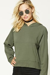 Forever 21 French Terry Knit Hoodie