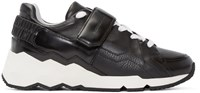 Pierre Hardy Black And White Leather Comet Sneakers