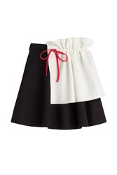 Msgm Skirt With Apron Detail Multicolor