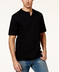 Tasso Elba Men's Big And Tall Heathered Henley Only At Macy's Deep Black
